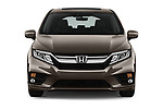 Car photography straight front view of a 2018 Honda Odyssey EX-L 5 Door Mini Van