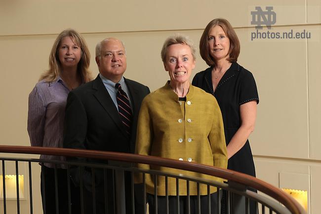 Fanning Center faculty from left: Sandra Collins, Jim O'Rourke, Sondra Byrnes, Cynthia Maciejczyk