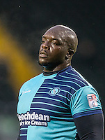 Adebayo Akinfenwa of Wycombe Wanderers during the Sky Bet League 2 match between Notts County and Wycombe Wanderers at Meadow Lane, Nottingham, England on 10 December 2016. Photo by Andy Rowland / PRiME Media Images.