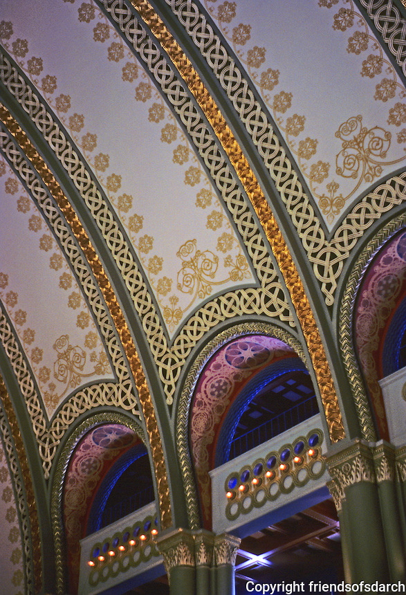 St. Louis: Union Square, Interior Detail--Restored, 1988.  Photo '88.