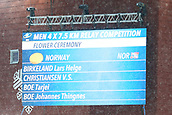 16th March 2019, Ostersund, Sweden; IBU World Championships Biathlon, day 8, mens relay; Johannes Thingnes Boe, Vetle Sjaastad Chrisitiansen, Lars Helge Birkeland and Tarjei Boe of Norway