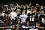 """6 November 2004: DC United supporters """"La Norte."""" DC United defeated the New England Revolution 4-3 on penalties after the game ended in a 3-3 tie at RFK Stadium in Washington, DC in the Major League Soccer Eastern Conference Championship Match. ."""