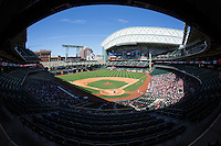 A general view of Minute Maid Park during the game between the Texas Tech Red Raiders and the Louisiana-Lafayette Ragin' Cajuns on day two of the Shriners Hospitals for Children College Classic on February 27, 2016 in Houston, Texas.  The Red Raiders defeated the Rajin' Cajuns 5-3 in 10 innings.  (Brian Westerholt/Four Seam Images)