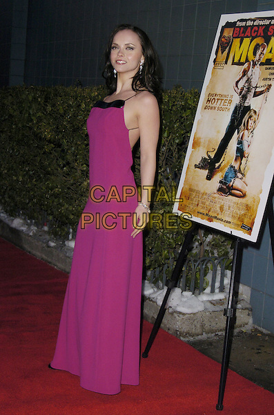 "CHRISTINA RICCI.Premiere of ""Black Snake Moan"" at the Chelsea West Cinemas, New York, New York, USA..February 19th, 2007.full length fuschia pink purple dress.CAP/ADM/BL.©Bill Lyons/AdMedia/Capital Pictures *** Local Caption ***"