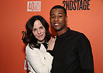 "Mary Louise Parker and J. Alphonse Nicholson attends the After Party for the Second Stage Production of ""Days Of Rage"" at Churrascaria Platforma on October 30, 2018 in New York City."