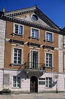 Europe/Pologne/Varsovie: La vieille ville - Détail de la maison natale de Marie Curie rue Freta