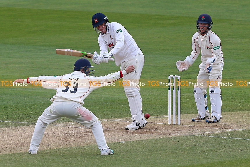 Daniel Lawrence of Essex works the ball past the close fielder during Essex CCC vs Lancashire CCC, Specsavers County Championship Division 1 Cricket at The Cloudfm County Ground on 10th April 2017