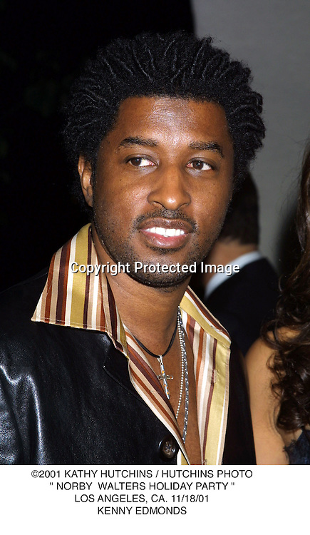 "©2001 KATHY HUTCHINS / HUTCHINS PHOTO."" NORBY  WALTERS HOLIDAY PARTY "".LOS ANGELES, CA. 11/18/01.KENNY EDMONDS"
