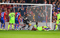 Dejan Lovren scores Liverpools second goal during the EPL - Premier League match between Crystal Palace and Liverpool at Selhurst Park, London, England on 29 October 2016. Photo by Steve McCarthy.