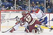 Vinny Monaco, Chris Collins, Kim Brandvold - The University of Massachusetts-Lowell River Hawks defeated the Boston College Eagles 6-3 on Saturday, February 25, 2006, at the Paul E. Tsongas Arena in Lowell, MA.