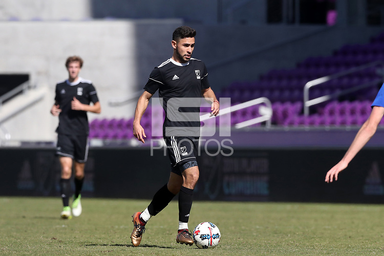 Orlando, Florida - Wednesday January 17, 2018: Alex Roldan. Match Day 3 of the 2018 adidas MLS Player Combine was held Orlando City Stadium.