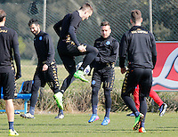 during training session at the eve of the  Champions League round of 16   soccer match between SSC Napoli and Real Madrid     at the Castelvolturno center February 14, 2017