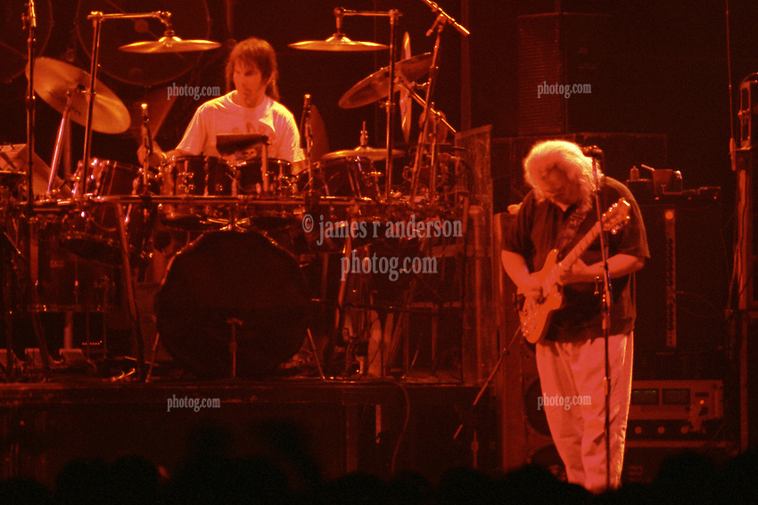 "Mickey Hart & Jerry Garcia performing with The Grateful Dead Live at The Hampton Coliseum on 9 October 1989. One of the ""Formerly The Warlocks"" concerts. Limited Edition Photographic Prints available for purchase in Cart."