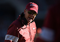 NWA Democrat-Gazette/CHARLIE KAIJO Arkansas head coach Chad Morris reacts, Saturday, November 2, 2019 during the second quarter of a football game at Donald W. Reynolds Razorback Stadium in Fayetteville. Visit nwadg.com/photos to see more photographs from the game.