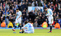 Blackburn Rovers players look dejected at the final whistle <br /> <br /> Photographer Rich Linley/CameraSport<br /> <br /> The EFL Sky Bet Championship - Blackburn Rovers v Preston North End - Saturday 9th March 2019 - Ewood Park - Blackburn<br /> <br /> World Copyright © 2019 CameraSport. All rights reserved. 43 Linden Ave. Countesthorpe. Leicester. England. LE8 5PG - Tel: +44 (0) 116 277 4147 - admin@camerasport.com - www.camerasport.com