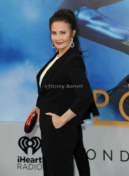 Lynda Carter arriving at the Los Angeles world premiere of Wonder Women, held at the Pantages Theatre Hollywood, California on May 25, 2017