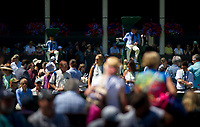 Umpires on Day 3 as the crowds watch the outside courts<br /> <br /> Photographer Ashley Western/CameraSport<br /> <br /> Wimbledon Lawn Tennis Championships - Day 3 - Wednesday 5th July 2017 -  All England Lawn Tennis and Croquet Club - Wimbledon - London - England<br /> <br /> World Copyright &not;&copy; 2017 CameraSport. All rights reserved. 43 Linden Ave. Countesthorpe. Leicester. England. LE8 5PG - Tel: +44 (0) 116 277 4147 - admin@camerasport.com - www.camerasport.com
