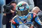 hertz british grand prix during the world championship 2014.<br /> Silverstone, england<br /> August 28, 2014. <br /> FP MotoGP<br /> Box<br /> alex marquez<br /> PHOTOCALL3000/ RME