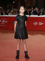 L'attrice Clelia Rossi Macelli posa durante il red carpet del film 'Tornare' alla 14^ Festa del Cinema di Roma all'Aufditorium Parco della Musica di Roma, 26 ottobre 2019. <br /> Italian actress Clelia Rossi Macelli poses on the red carpet of the movie 'Tornare' during the 14^ Rome Film Fest at Rome's Auditorium, on 26 October 2019.<br /> UPDATE IMAGES PRESS/Isabella Bonotto