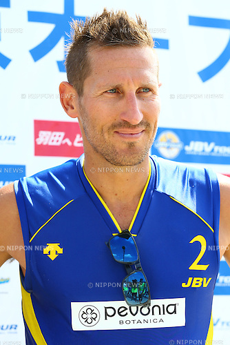 Ty loomis,<br /> SEPTEMBER 21, 2015 - Beach Volleyball : <br /> JBV Tour 2015 Tokyo Open<br /> Men's Semi-Final<br /> at Odaiba Beach, Tokyo, Japan.<br /> (Photo by Shingo Ito/AFLO SPORT)