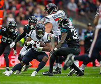3rd November 2019; Wembley Stadium, London, England; National Football League, Houston Texans versus Jacksonville Jaguars; Running Back Carlos Hyde of Houston Texans with the ball - Editorial Use