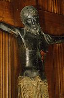 France/15/Cantal/Saint FLour: Cathédrale Saint Pierre - Beau dieu noir - Christ en bois XIIIème