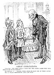"Great Expectations. Uncle Sam. ""Now what shall I give you two young ladies that will help us all to be happier?"" Miss Britannia, Mlle La France} ""Please, Uncle, could we have one of those lovely moratoriums, like last year!"""