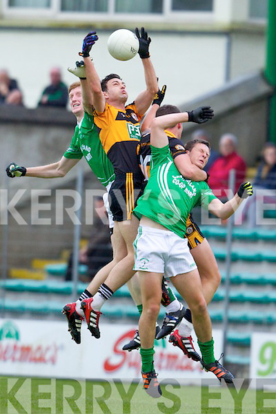Paul O'Donoghue and Shane Carroll Austin Stacks in action against Eamon O'Donoghue and James Walsh Saint Kierans in the opening round of the Kerry Senior Football Championship on Saturday night at Austin Stack Park Tralee.