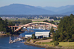 La Conner, Swinomish Channel, Rainbow Bridge, Skagit County, Washington State,