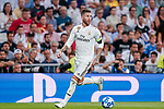 Sergio Ramos of Real Madrid in action during the UEFA Champions League 2018-19 match between Real Madrid and Roma at Estadio Santiago Bernabeu on September 19 2018 in Madrid, Spain. Photo by Diego Souto / Power Sport Images