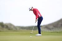 Isobel Wardle (ENG) on the 7th green during Round 3 Matchplay of the Women's Amateur Championship at Royal County Down Golf Club in Newcastle Co. Down on Friday 14th June 2019.<br /> Picture:  Thos Caffrey / www.golffile.ie