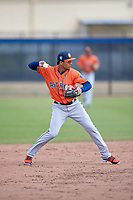 Houston Astros Miguelangel Sierra (3) during a Minor League Spring Training Intrasquad game on March 28, 2018 at FITTEAM Ballpark of the Palm Beaches in West Palm Beach, Florida.  (Mike Janes/Four Seam Images)