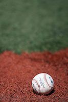 May 24, 2008:  A baseball sits on the turf before a Toronto Blue Jays game at the Rogers Centre in Toronto, Ontario, Canada .  Photo by:  Mike Janes/Four Seam Images