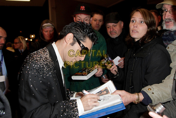 Corey Feldman.Attending the 7thh Kinderlachen Gala 2011, Westfalenhalle, Dortmund, Germany, 26th November 2011..half length black jacket white shirt side signing autographs sunglasses  diamante crystals sparkly .CAP/PPG/PF.©Patric Fouad/People Picture/Capital Pictures