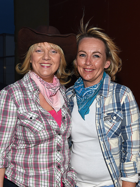 Barbara and Brege Martin pictured at the barn dance at Oberstown farm. Photo:Colin Bell/pressphotos.ie