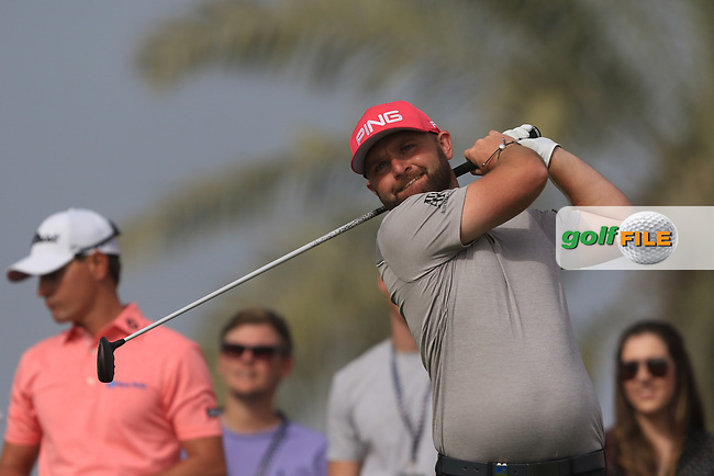 Andy Sullivan (ENG) on the 9th during Round 2 of the Omega Dubai Desert Classic, Emirates Golf Club, Dubai,  United Arab Emirates. 25/01/2019<br /> Picture: Golffile | Thos Caffrey<br /> <br /> <br /> All photo usage must carry mandatory copyright credit (&copy; Golffile | Thos Caffrey)