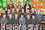 Junior infants in Cullina National School Kayla Roche, Rachel O'Loughlin, Anna Mai Tuohy, Tessa Cronin, Avril Rooney, Mell Crowley, James Garland, Evind Caulfield Drier, Arthur Gabbett, Danny Falvey, Eanna Murphy, Cillian Wallace, Thomas Coffey and Jack Gabbett pictured with their teachers Una Costello, Alison Tuohy and Lisa Murphy.........................................................................................................