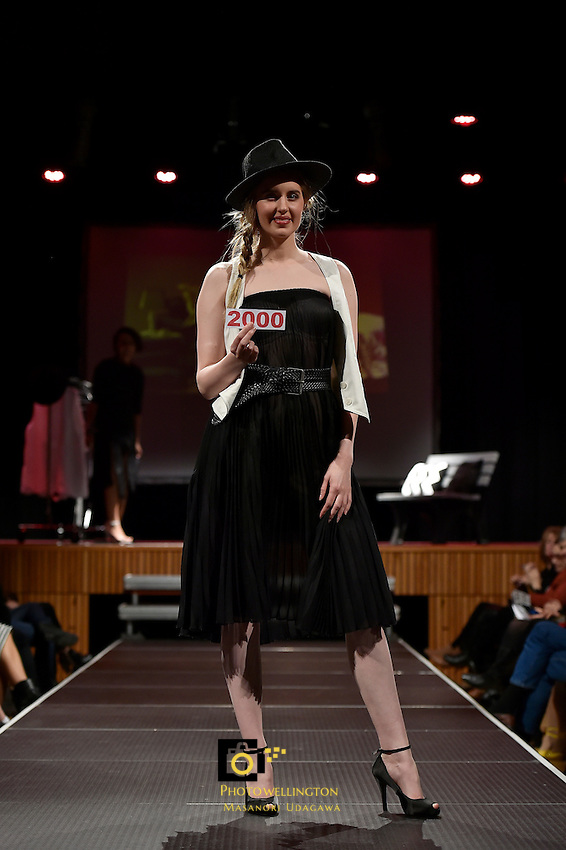 New Zealand Eco Fashion Week - Eco Designer Runway at Notre Dame Performing Arts Centre, Sacred Heart College, Lower Hutt, New Zealand on Saturday 13 June 2015.<br /> Photo by Masanori Udagawa. <br /> www.photowellington.photoshelter.com.