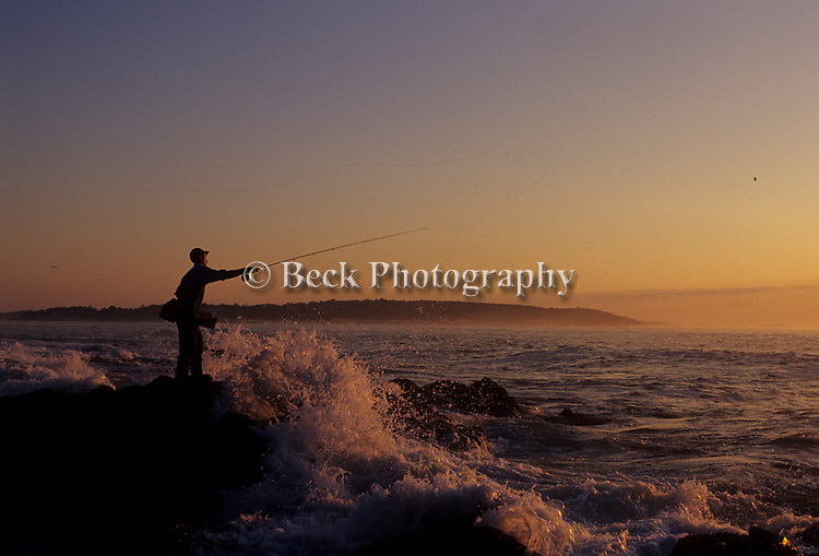 FLY FISHING IN MAINE AT SUNRISE