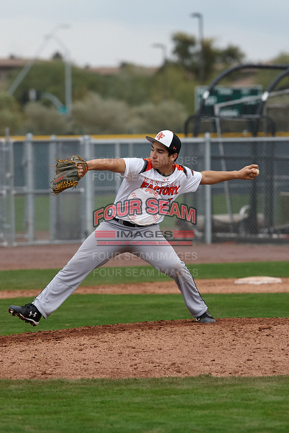 Joshua Fernandez (7) of Hondo High School in Hondo, Texas during the Under Armour All-American Pre-Season Tournament presented by Baseball Factory on January 15, 2017 at Sloan Park in Mesa, Arizona.  (Kevin C. Cox/MJP/Four Seam Images)