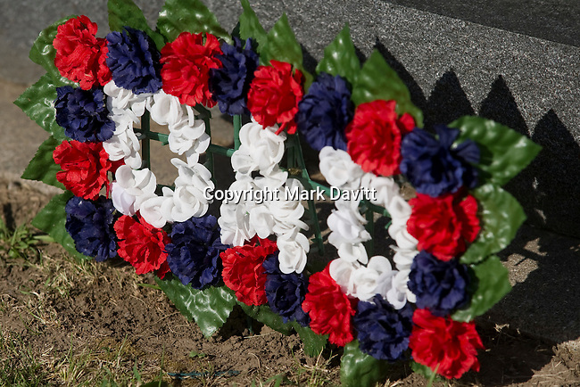 Grave sites were decorated on Memorial Day.