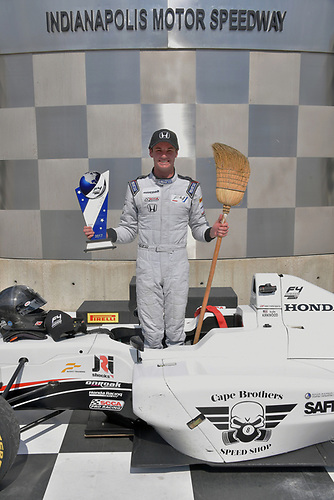 2017 F4 US Championship<br /> Rounds 4-5-6<br /> Indianapolis Motor Speedway, Speedway, IN, USA<br /> Sunday 11 June 2017<br /> Kyle Kirkwood makes a clean sweep of all 3 weekend races at Indy<br /> World Copyright: Dan R. Boyd<br /> LAT Images