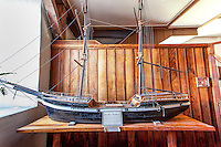 "Model of the Brig ""Thaddeus"" displayed inside the Mokuaikaua Church, Kailua-Kona, Big Island."