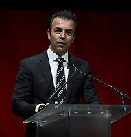 LAS VEGAS, NV - APRIL 24: CEO and General Director, Cinepolis, Alejandro Ramirez Magana speaks onstage during the CinemaCon 2018 The State of the Industry and Walt Disney Studios Presentation presentation at CinemaCon 2018 at The Colosseum at Caesars Palace on April 24, 2018 in Las Vegas, Nevada. (Photo by Frank Micelotta/PictureGroup)