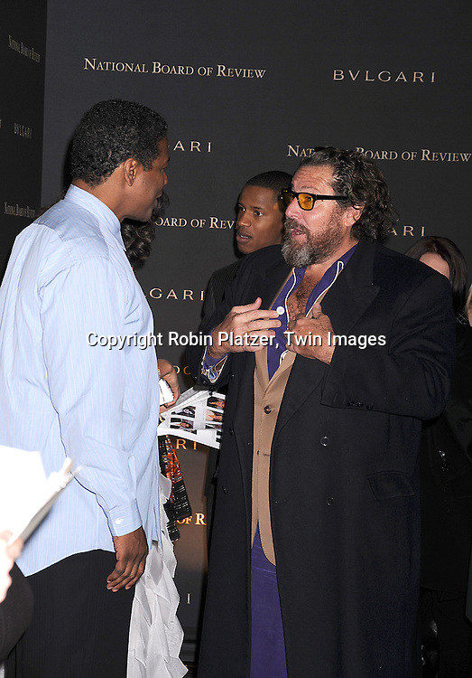 Denzel Washington and Julian Schnabel.posing for photographers at The 2007 National Board of Review of Motion Pictures Awards Gala presented by Bulgari on January 15, 2008 at Cipriani's 42nd Street. .Robin Platzer, Twin Images