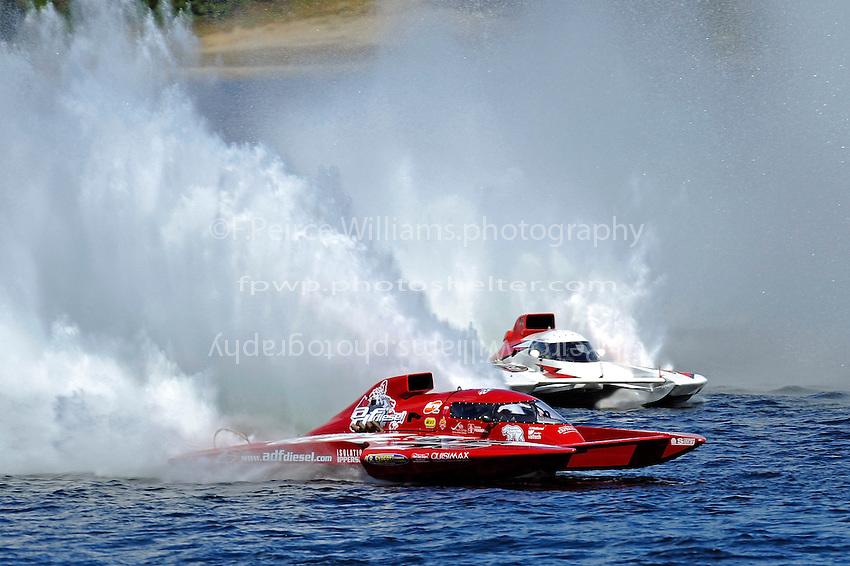 """Pierre Mahaeu, GP-46 """"adf diesel""""  and Ken Brodie II, GP-50 """"Intensity"""" (Grand Prix Hydroplane(s)"""
