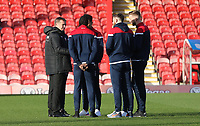 Bolton Wanderers manager Phil Parkinson chats with the players prior to the match<br /> <br /> Photographer Rob Newell/CameraSport<br /> <br /> The EFL Sky Bet Championship - Brentford v Bolton Wanderers - Saturday 22nd December 2018 - Griffin Park - Brentford<br /> <br /> World Copyright © 2018 CameraSport. All rights reserved. 43 Linden Ave. Countesthorpe. Leicester. England. LE8 5PG - Tel: +44 (0) 116 277 4147 - admin@camerasport.com - www.camerasport.com