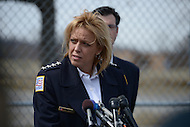 Washington, DC - March 27, 2014: D.C. Metropolitan Police Chief Cathy Lanier holds a news conference to update the media on the case of missing 8-year-old Relisha Rudd.   (Photo by Don Baxter/Media Images International)