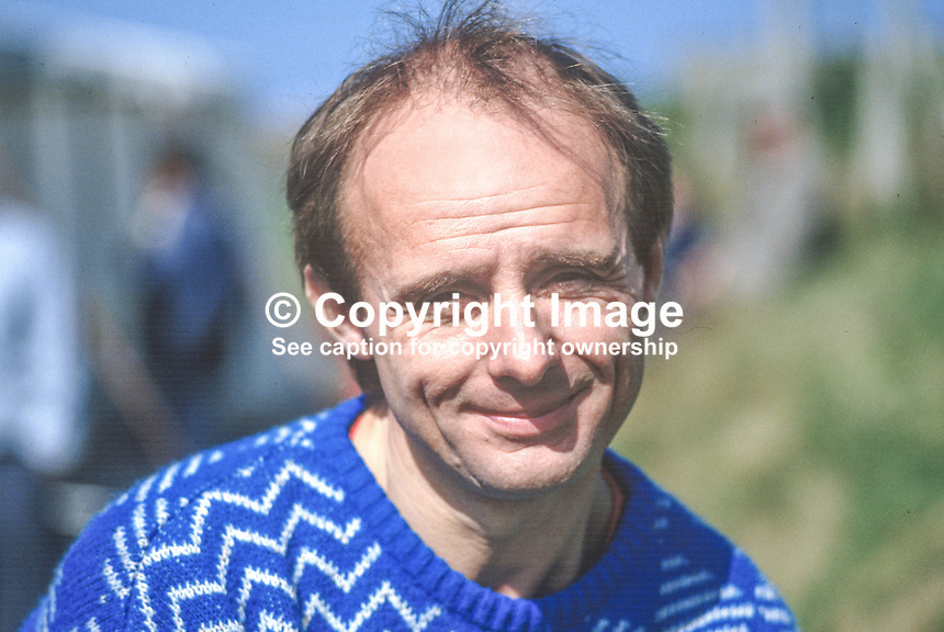 Barry Woodland, racing motorcyclist, England 19870502BW..Copyright Image from Victor Patterson, 54 Dorchester Park, Belfast, UK, BT9 6RJ..Tel: +44 28 9066 1296.Mob: +44 7802 353836.Voicemail +44 20 8816 7153.Skype: victorpattersonbelfast.Email: victorpatterson@me.com.Email: victorpatterson@ireland.com (back-up)..IMPORTANT: If you wish to use this image or any other of my images please go to www.victorpatterson.com and click on the Terms & Conditions. Then contact me by email or phone with the reference number(s) of the image(s) concerned.