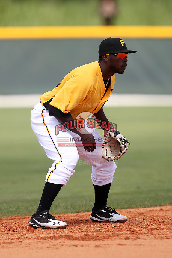 Pittsburgh Pirates shortstop Josh Harrison #23 during an Instructional League game against the Philadelphia Phillies at Pirate City on October 11, 2011 in Bradenton, Florida.  (Mike Janes/Four Seam Images)